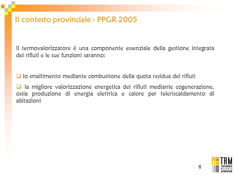 Il contesto provinciale - PPGR 2005