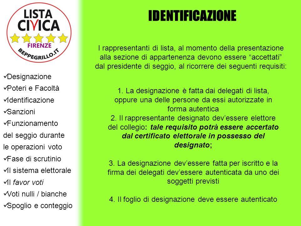 4. Il foglio di designazione deve essere autenticato