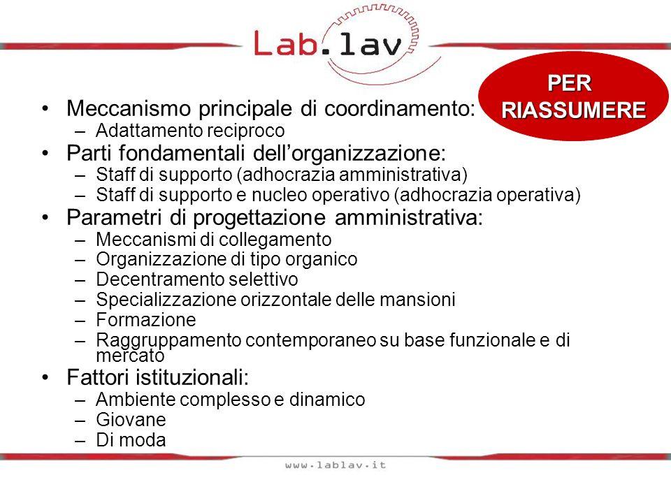 Meccanismo principale di coordinamento: