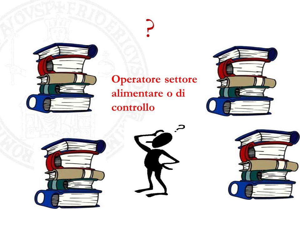 Operatore settore alimentare o di controllo