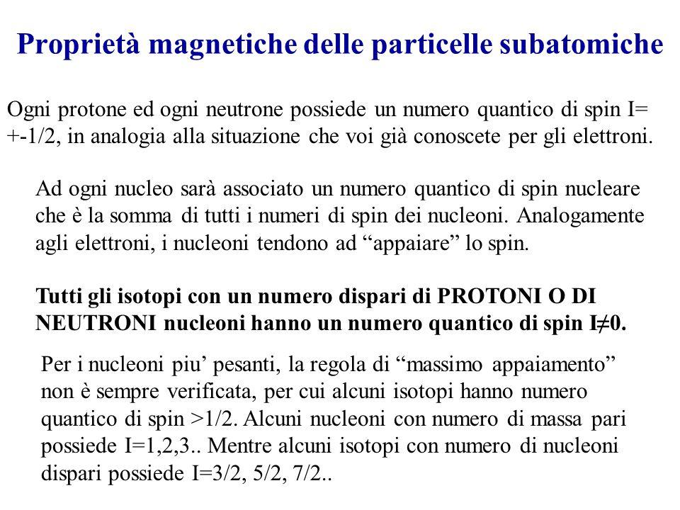 Proprietà magnetiche delle particelle subatomiche