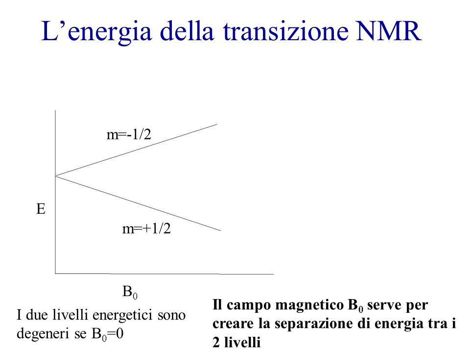 L'energia della transizione NMR