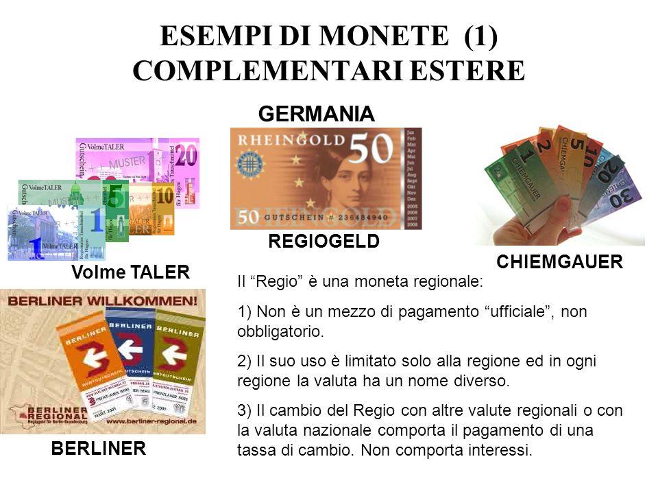 ESEMPI DI MONETE (1) COMPLEMENTARI ESTERE