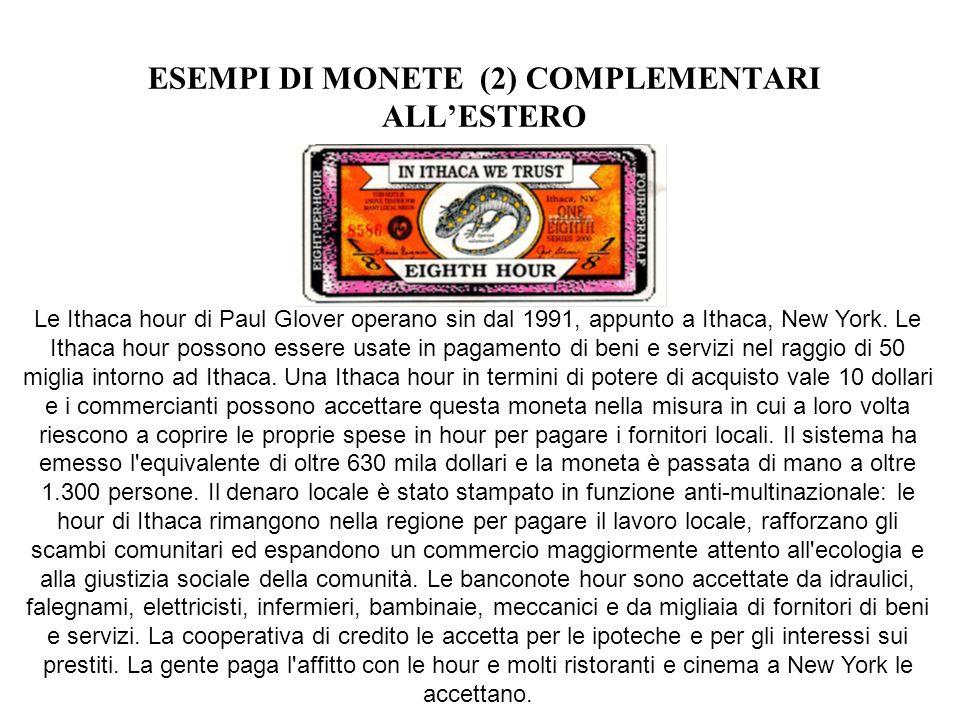 ESEMPI DI MONETE (2) COMPLEMENTARI ALL'ESTERO