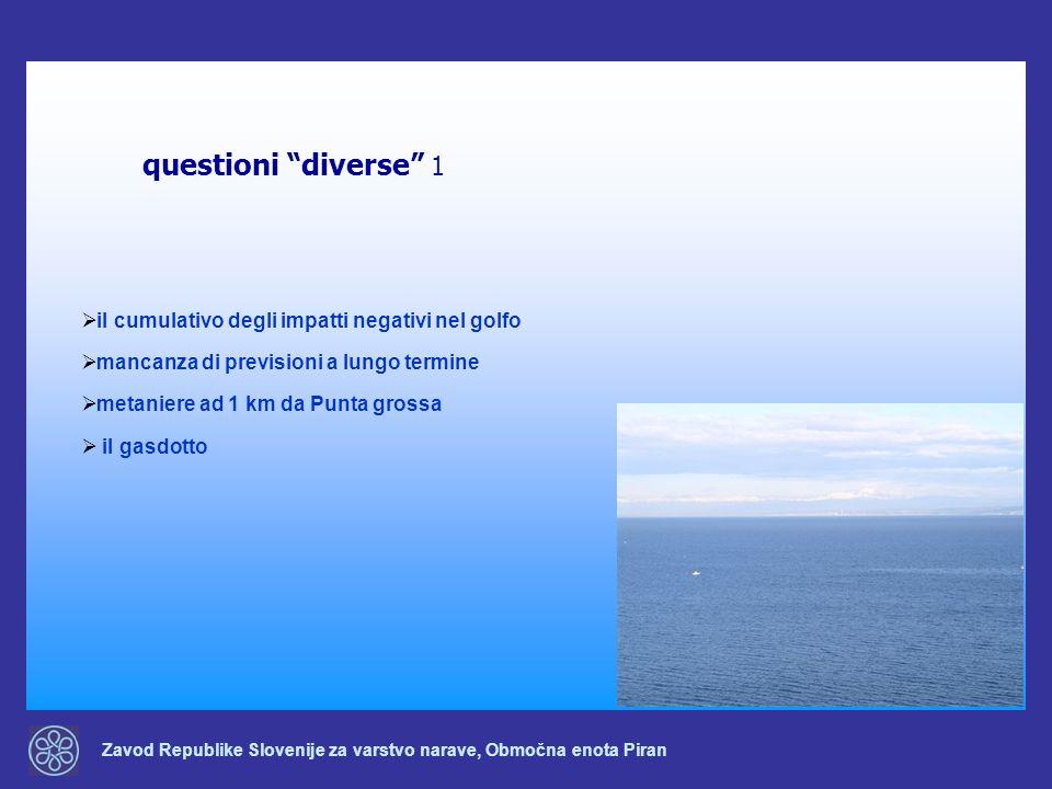 questioni diverse 1 il cumulativo degli impatti negativi nel golfo