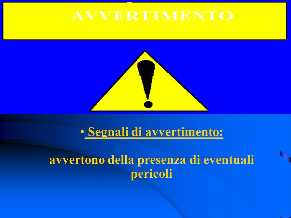 Segnali di avvertimento: