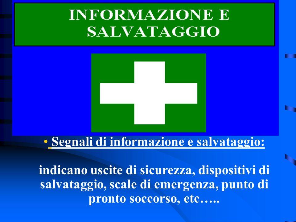 Segnali di informazione e salvataggio: