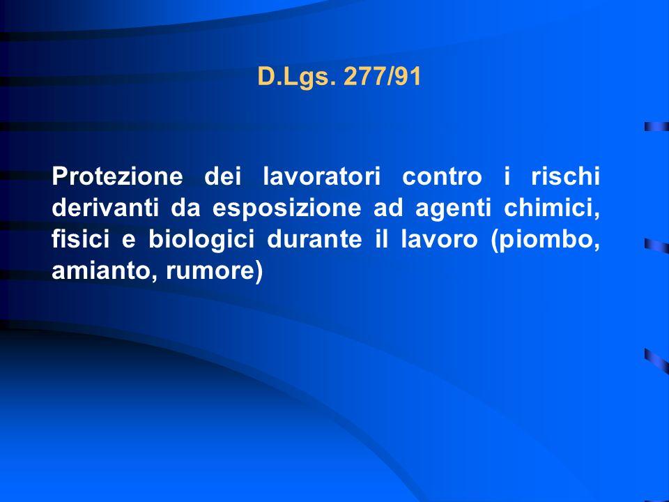 D.Lgs. 277/91