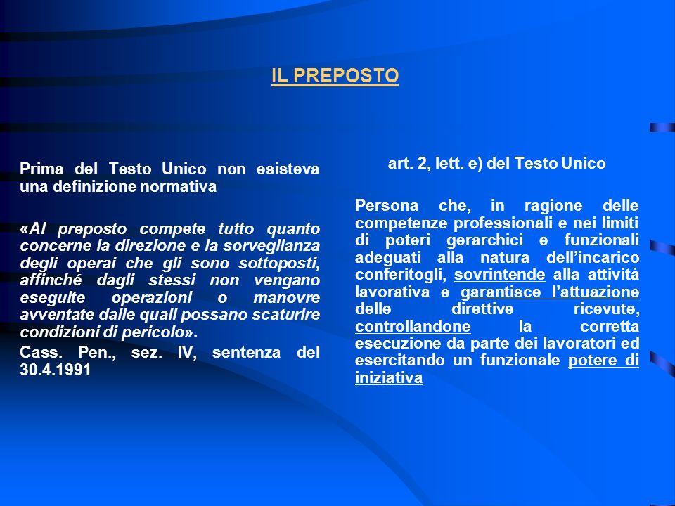 art. 2, lett. e) del Testo Unico