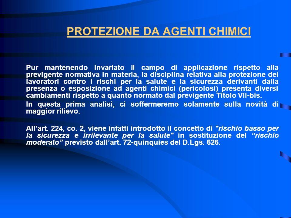PROTEZIONE DA AGENTI CHIMICI