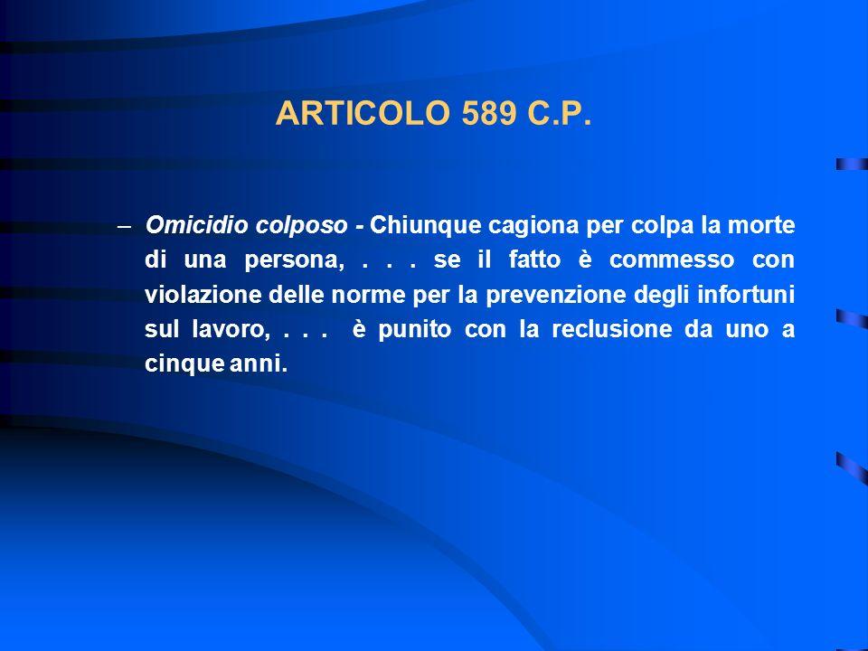 ARTICOLO 589 C.P.
