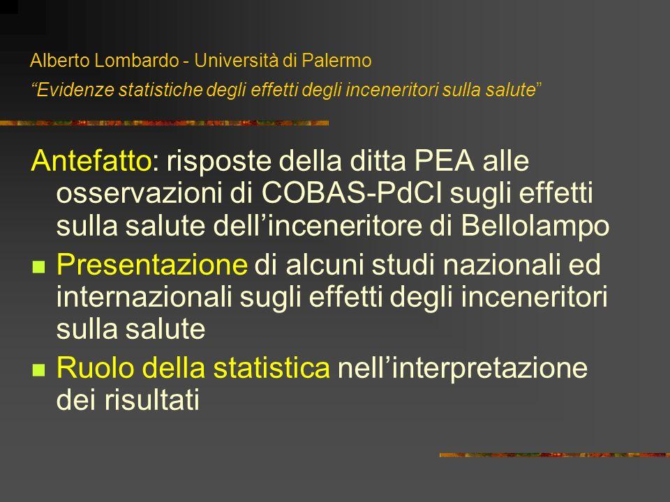 Ruolo della statistica nell'interpretazione dei risultati