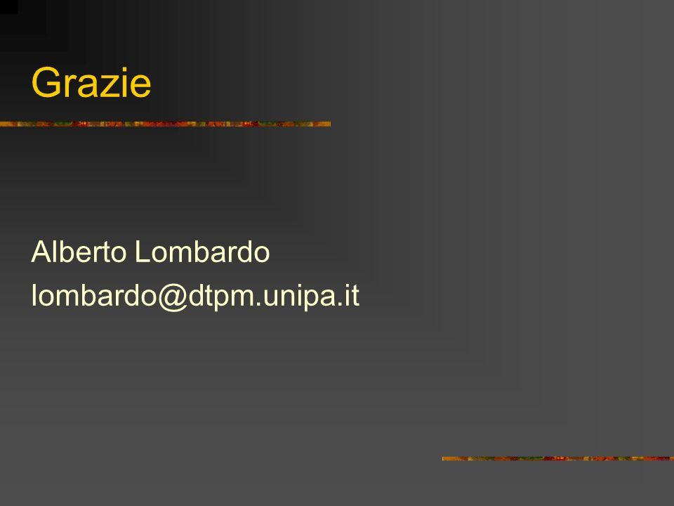 Grazie Alberto Lombardo lombardo@dtpm.unipa.it