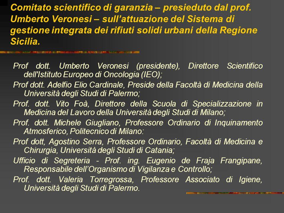 Comitato scientifico di garanzia – presieduto dal prof