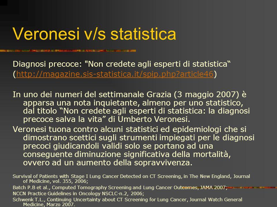 Veronesi v/s statistica