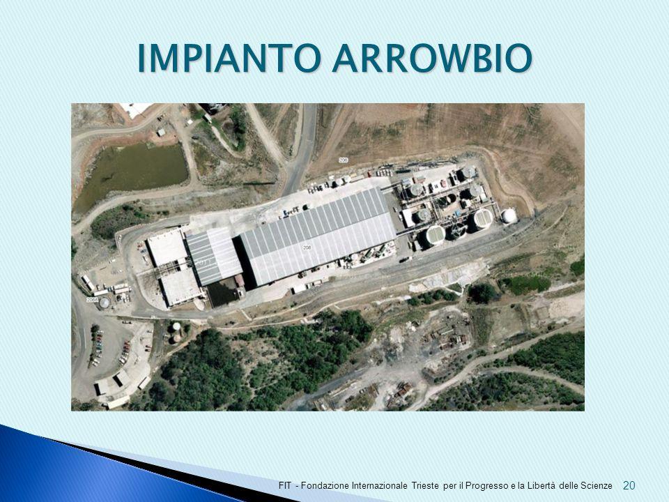 IMPIANTO ARROWBIO FIT - Fondazione Internazionale Trieste per il Progresso e la Libertà delle Scienze.