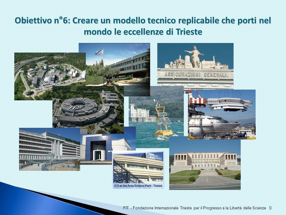 Obiettivo n°6: Creare un modello tecnico replicabile che porti nel mondo le eccellenze di Trieste