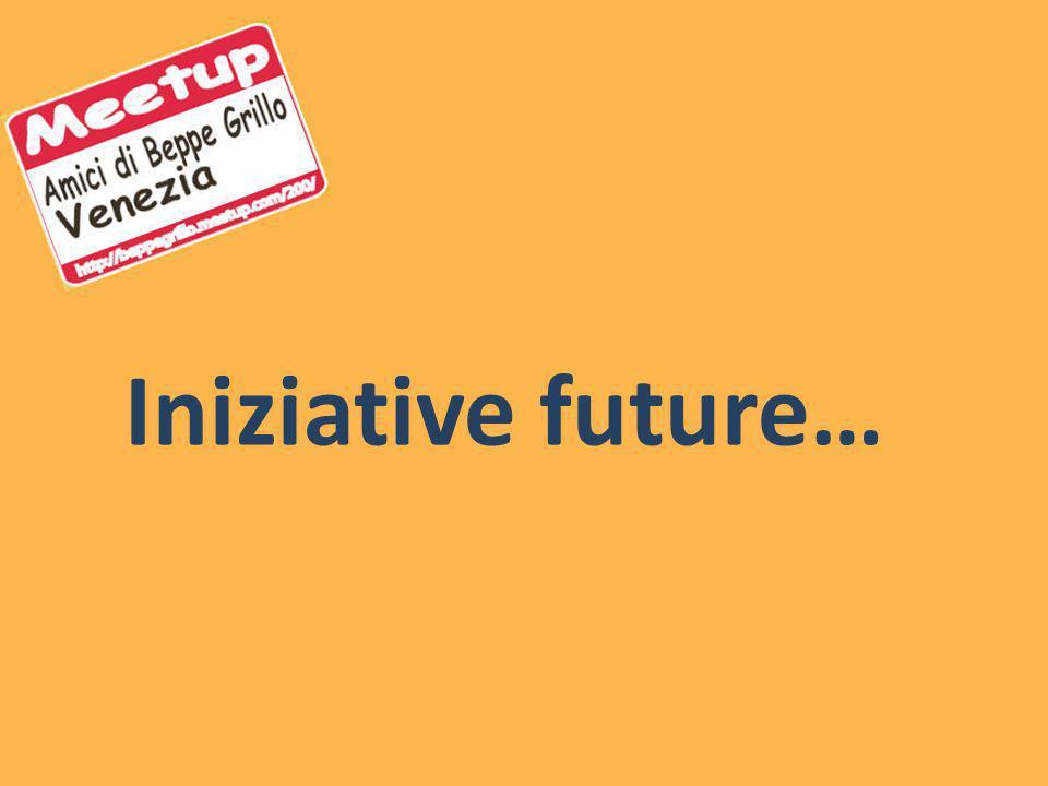 Iniziative future…