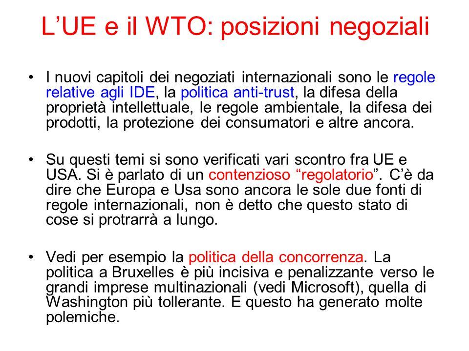 L'UE e il WTO: posizioni negoziali