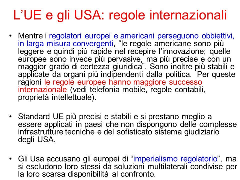 L'UE e gli USA: regole internazionali