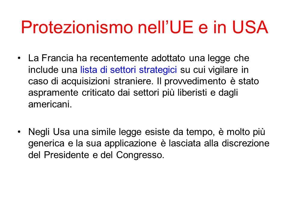 Protezionismo nell'UE e in USA