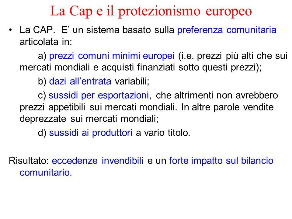 La Cap e il protezionismo europeo