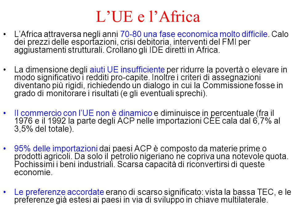 L'UE e l'Africa