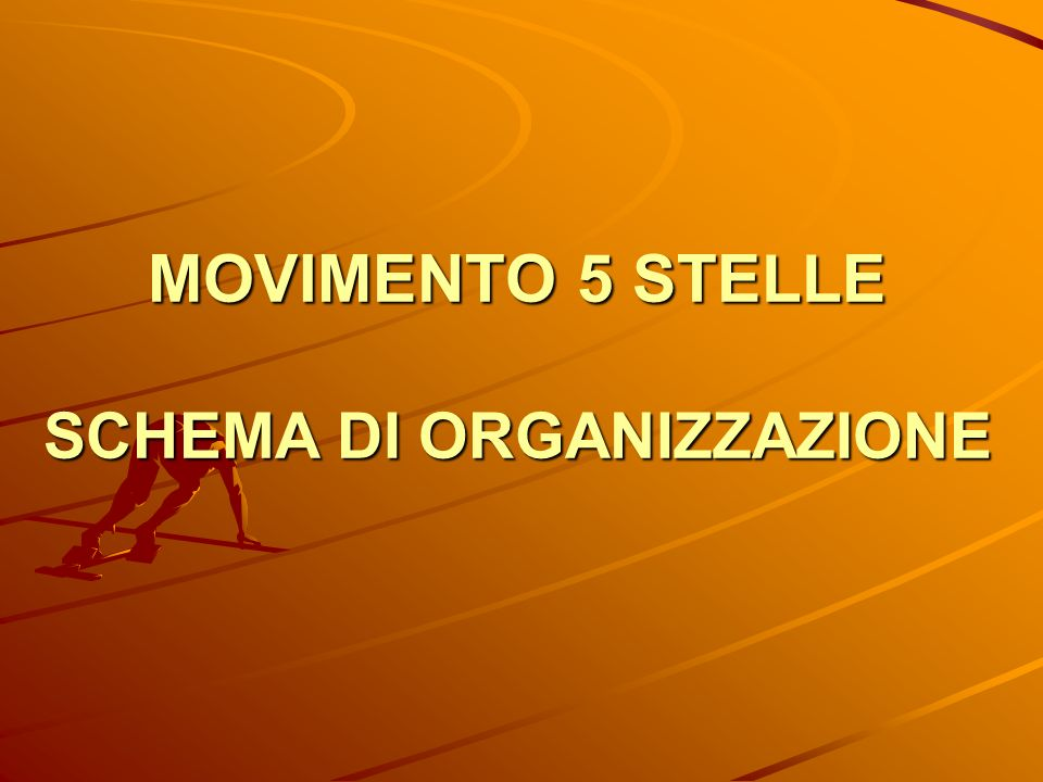 MOVIMENTO 5 STELLE SCHEMA DI ORGANIZZAZIONE
