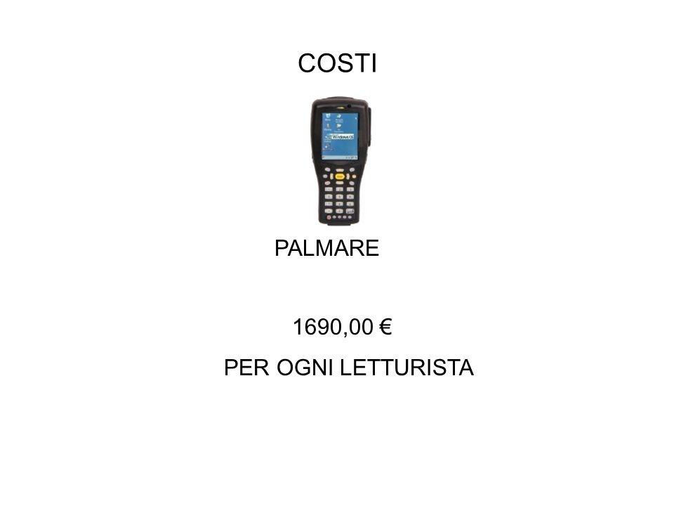 COSTI PALMARE 1690,00 € PER OGNI LETTURISTA