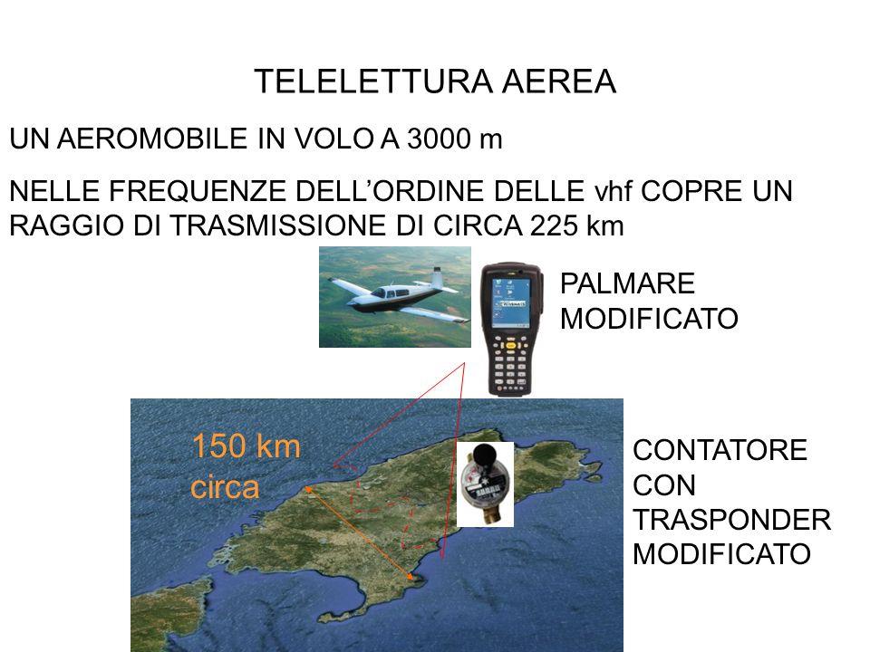 TELELETTURA AEREA 150 km circa UN AEROMOBILE IN VOLO A 3000 m