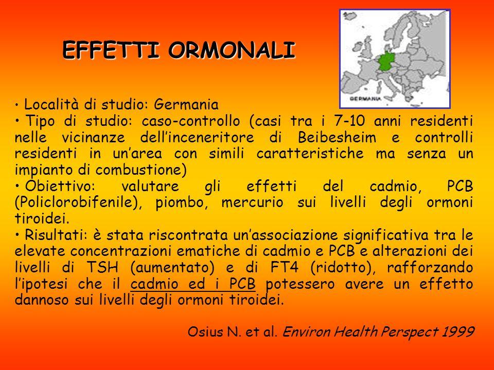 EFFETTI ORMONALI Località di studio: Germania.