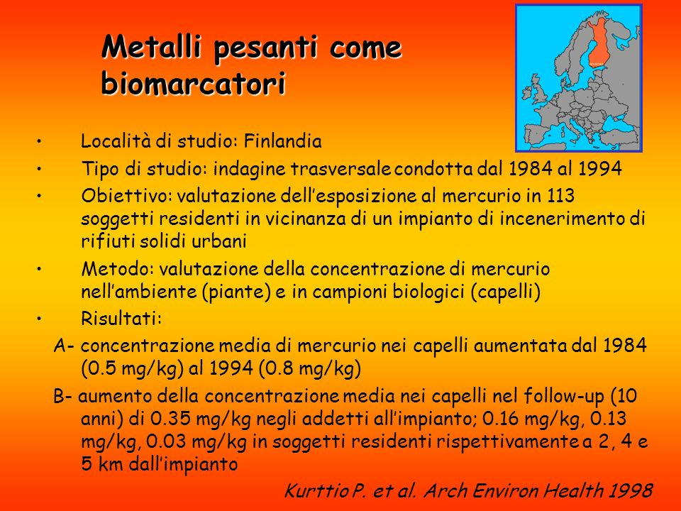 Metalli pesanti come biomarcatori