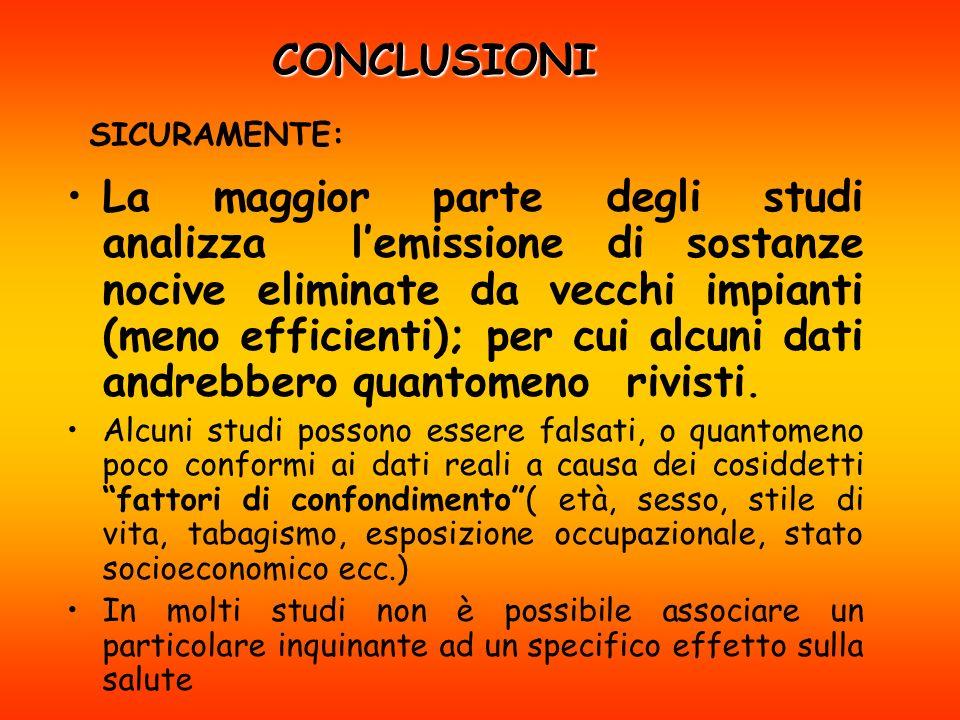 CONCLUSIONI SICURAMENTE: