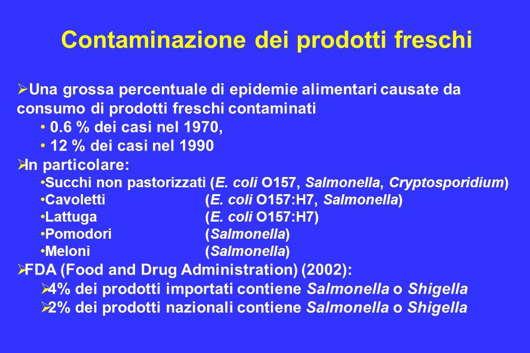 Contaminazione dei prodotti freschi