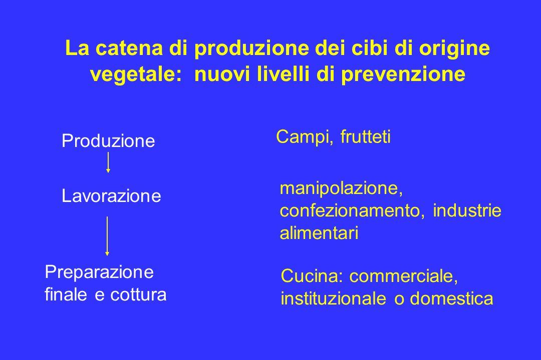 La catena di produzione dei cibi di origine vegetale: nuovi livelli di prevenzione