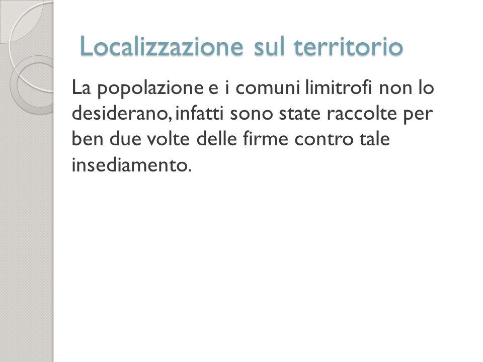Localizzazione sul territorio