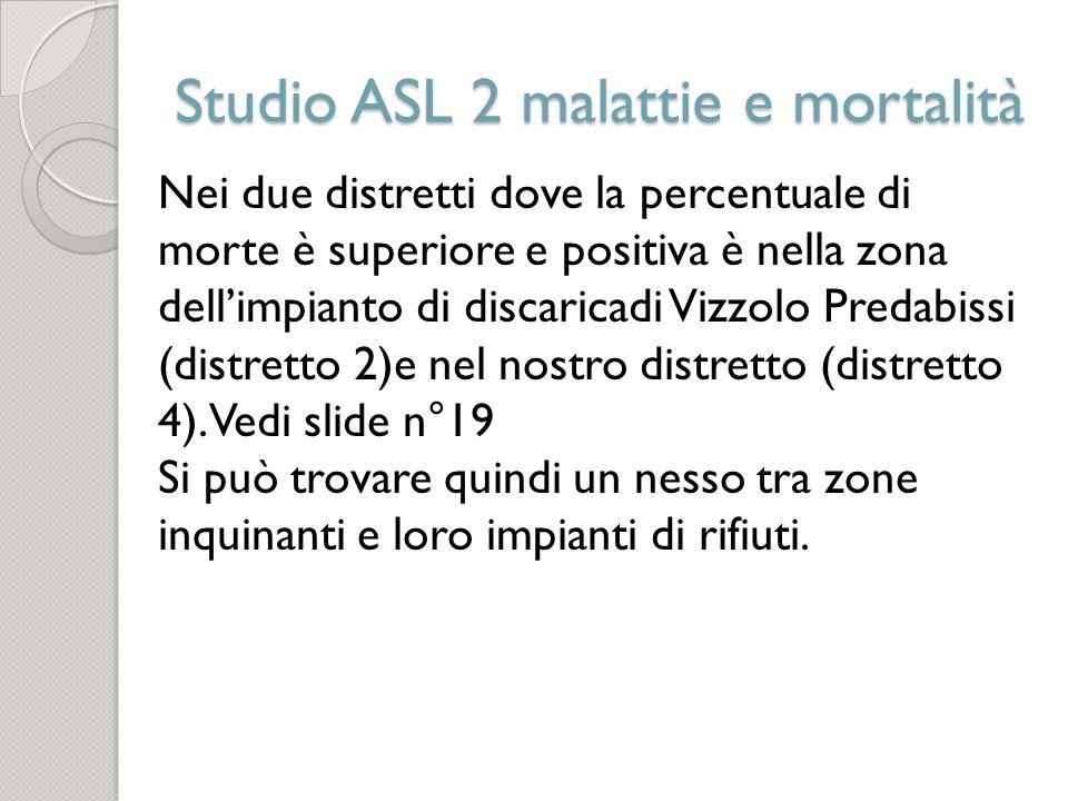 Studio ASL 2 malattie e mortalità