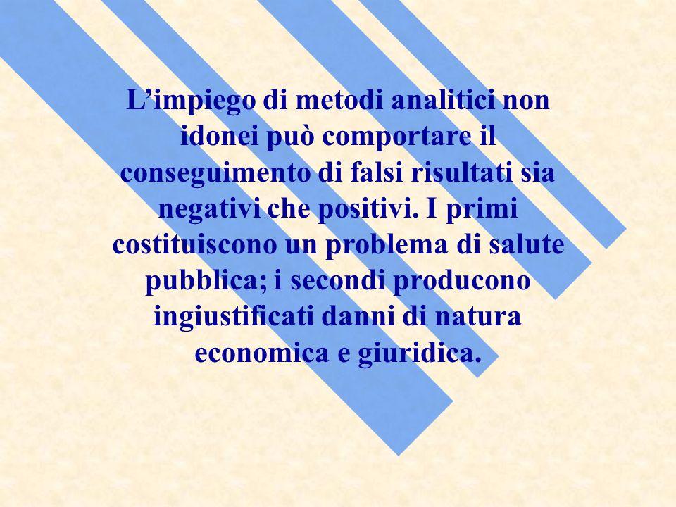 L'impiego di metodi analitici non idonei può comportare il conseguimento di falsi risultati sia negativi che positivi.