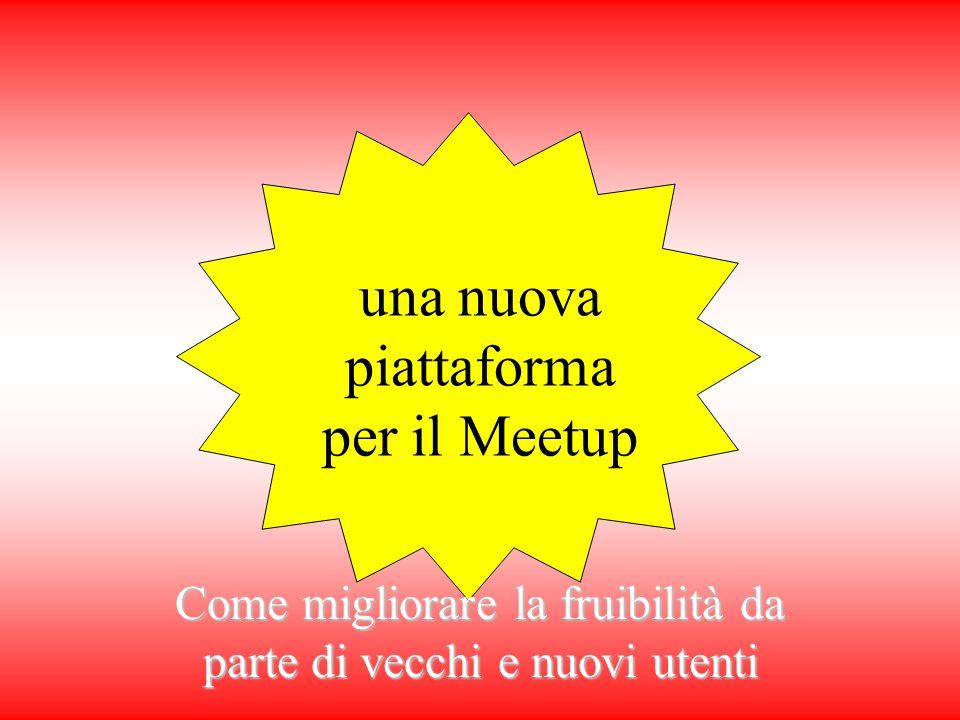una nuova piattaforma per il Meetup