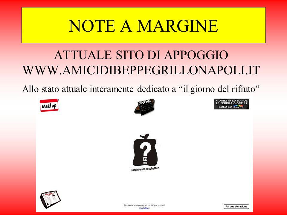 ATTUALE SITO DI APPOGGIO WWW.AMICIDIBEPPEGRILLONAPOLI.IT