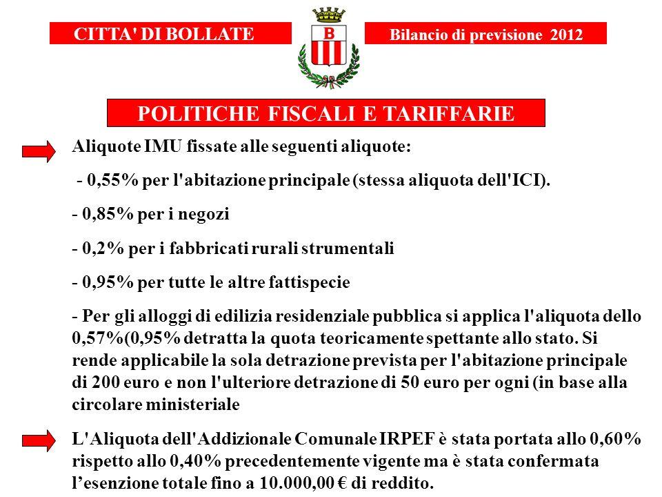 POLITICHE FISCALI E TARIFFARIE