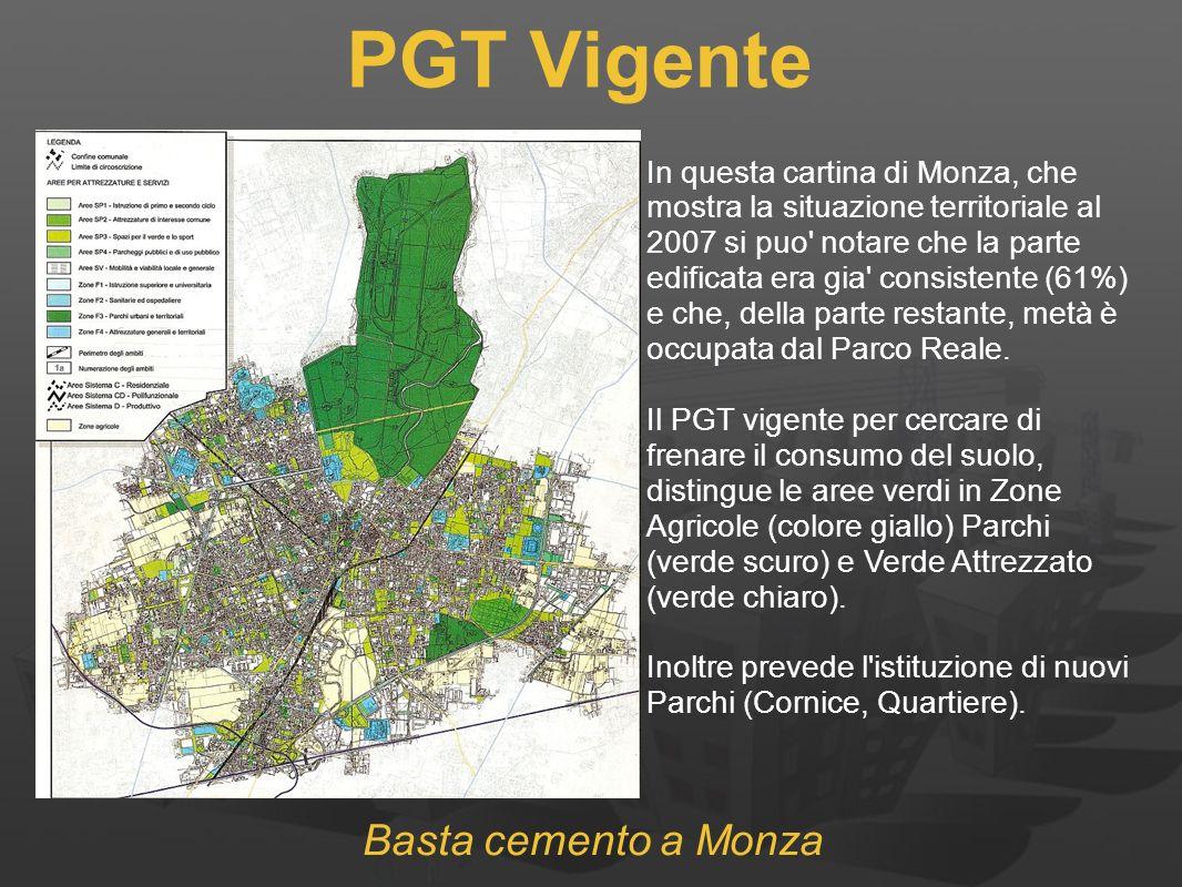 PGT Vigente Basta cemento a Monza