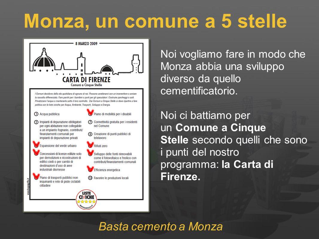 Monza, un comune a 5 stelle