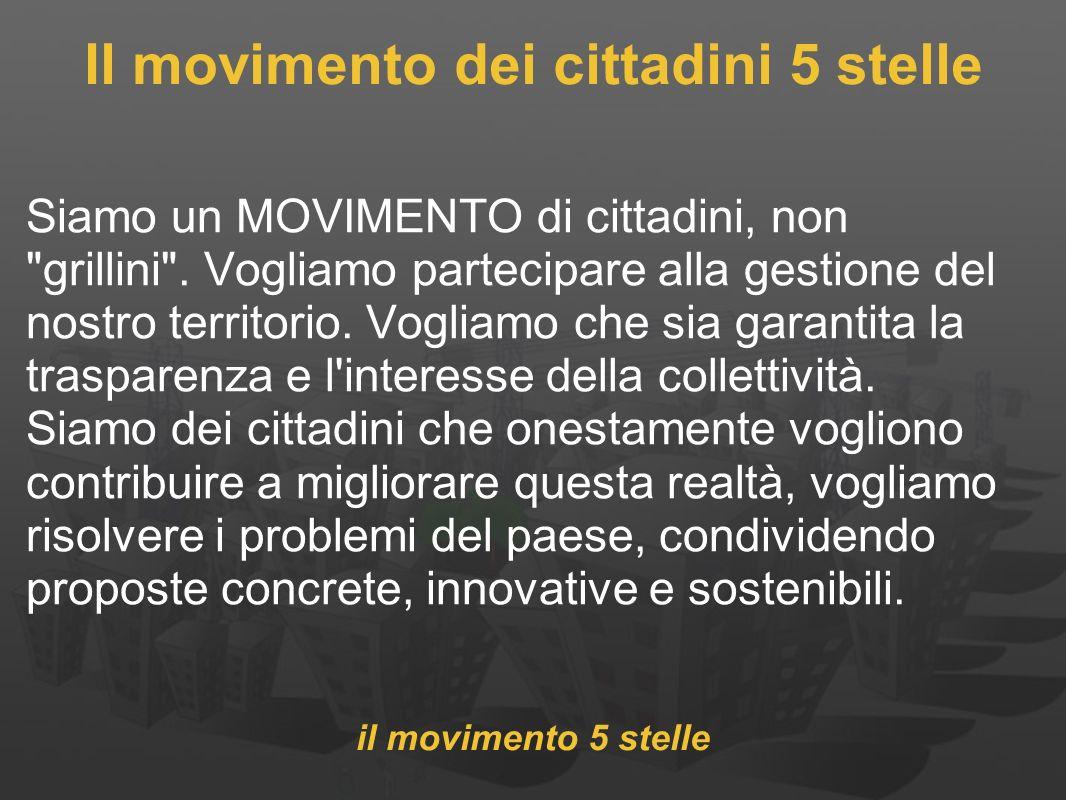 Il movimento dei cittadini 5 stelle