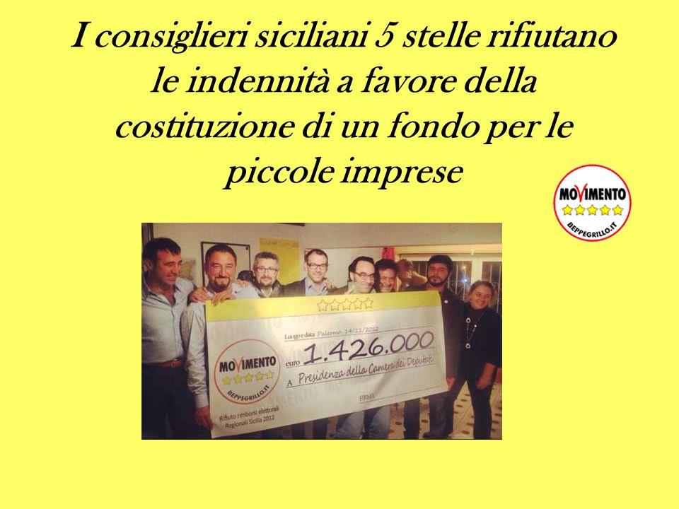 I consiglieri siciliani 5 stelle rifiutano le indennità a favore della costituzione di un fondo per le piccole imprese