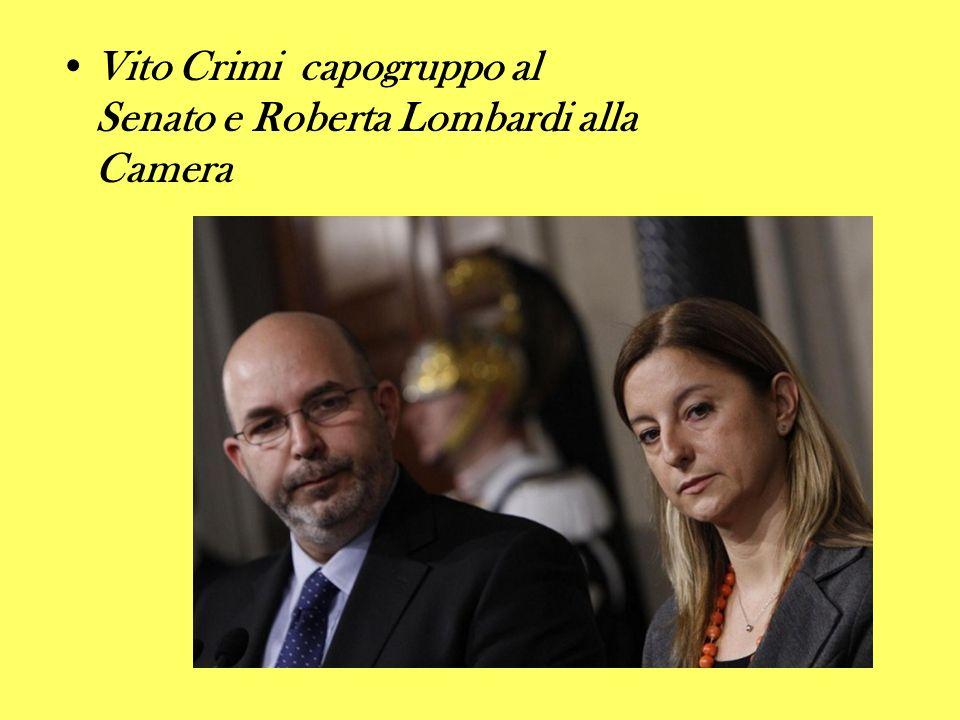 Vito Crimi capogruppo al Senato e Roberta Lombardi alla Camera