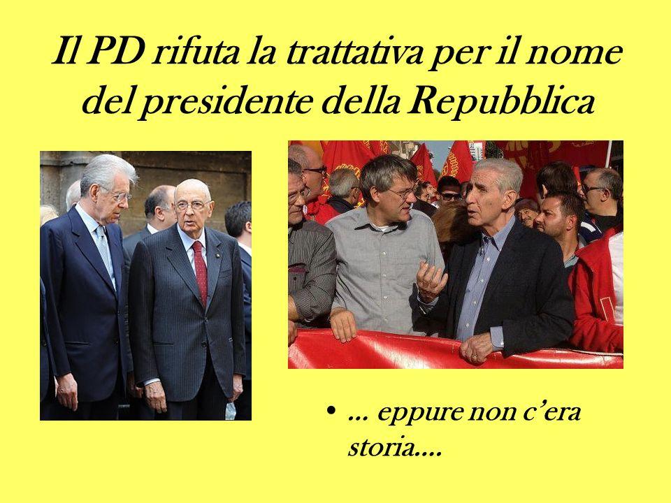 Il PD rifuta la trattativa per il nome del presidente della Repubblica