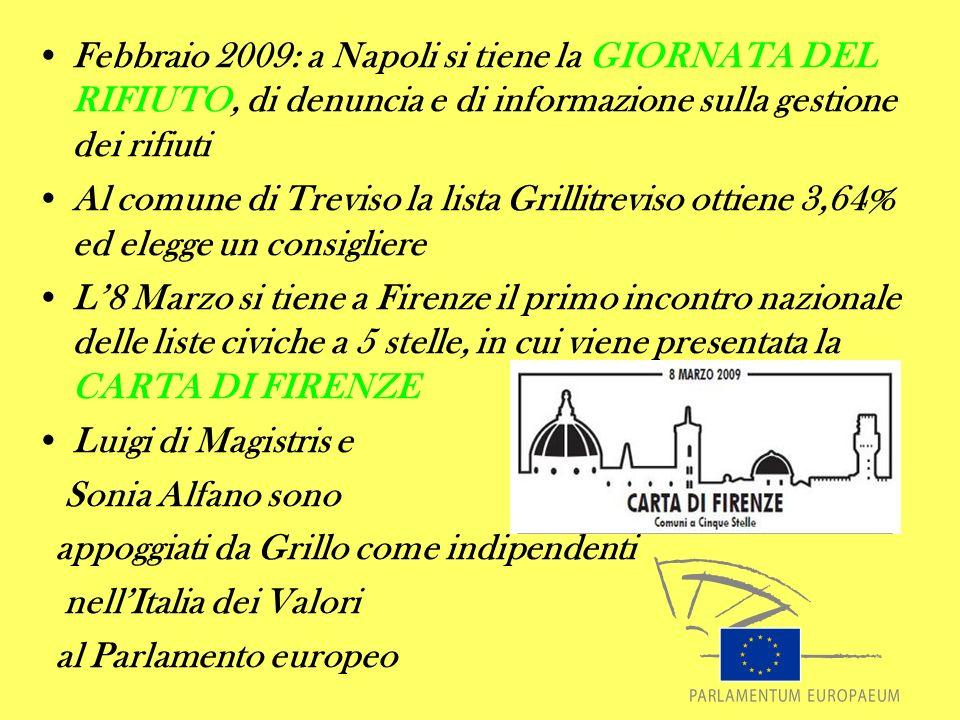 Febbraio 2009: a Napoli si tiene la GIORNATA DEL RIFIUTO, di denuncia e di informazione sulla gestione dei rifiuti