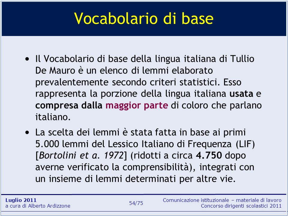 Vocabolario di base