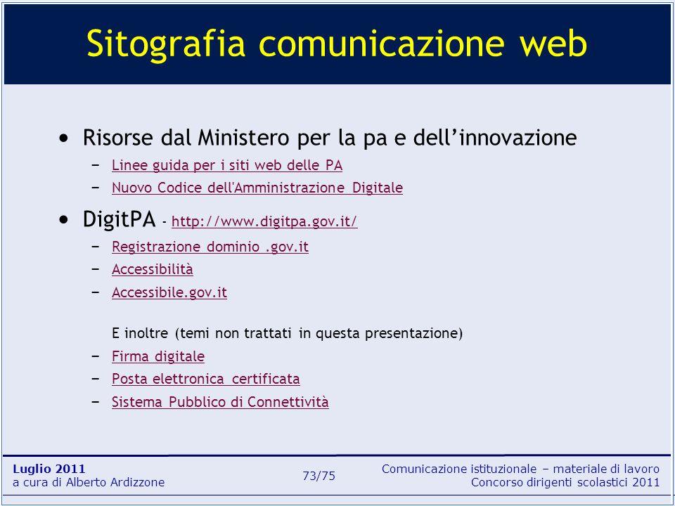 Sitografia comunicazione web